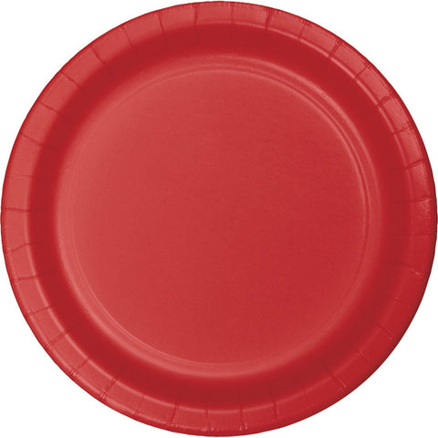 "Classic Red Heavy Duty 7"" Dessert Plates (24 Ct.)"