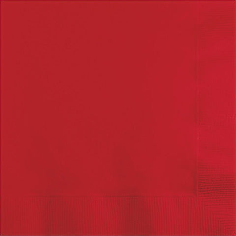 Classic Red 2-Ply Beverage Napkins (50 Ct.)