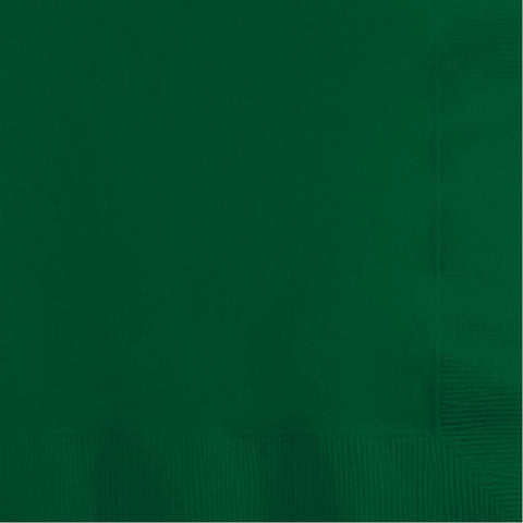 Hunter Green 2-Ply Beverage Napkins (50 Ct.)