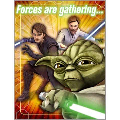 Star Wars: The Clone Wars Opposing Forces Invitations 8 Pack