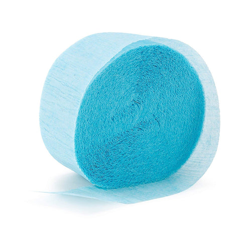 Crepe Paper Streamer 81' Baby Blue