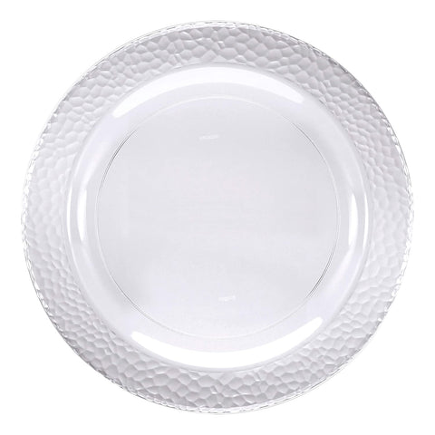 Clear Pebble Plastic Dinner Plates, 10""