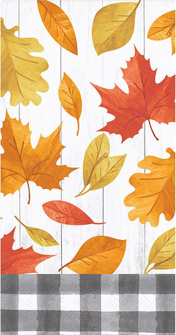 Falling Leaves guest towel 3ply. 16 ct
