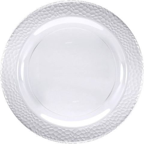 Clear Pebble Plastic Dessert Plates, 7""