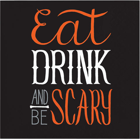 Eat, Drink and Be Scary Halloween Beverage Napkins, 5""