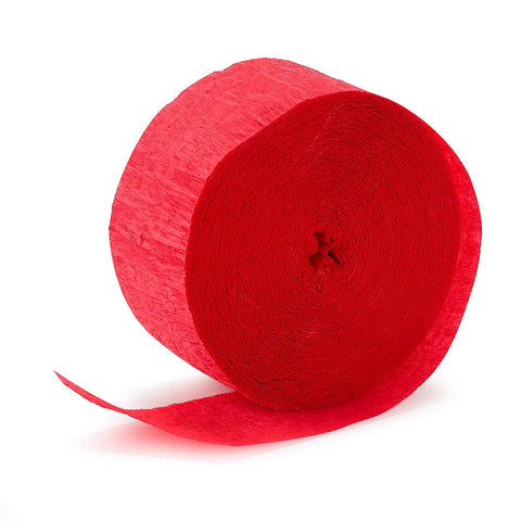Crepe Paper Streamer 81' Apple Red
