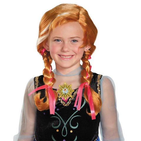 Anna, Disney's Frozen - Girl's Wig with Ribbons