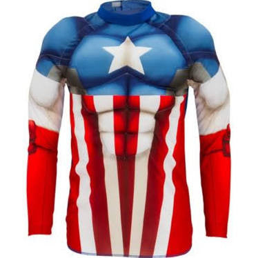 Captain America Muscle Shirt - Boy's Basic Costume