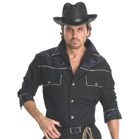 Cowboy - Men's Costume Shirt with Hat