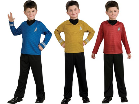 Star Trek Shirt and Pants - Boy's Costume (Size Medium & Large)