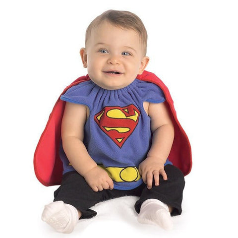 Superman Bib - Infant's Deluxe Superhero Costume (0-9 Mos.)