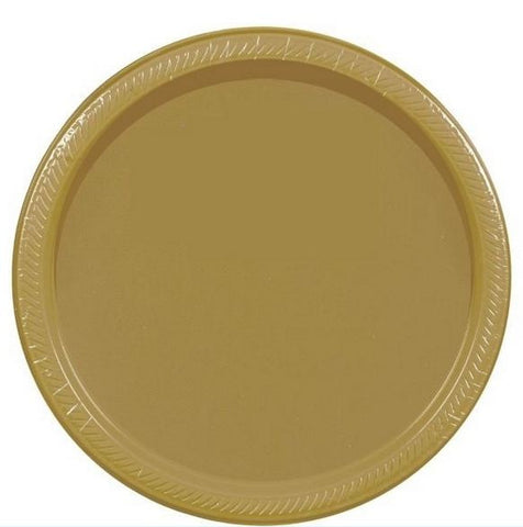 "Gold 9"" Paper Plate 20ct"