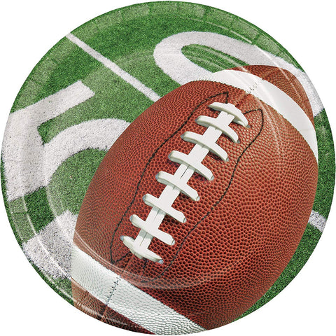 Football Party Dessert Plates 8ct