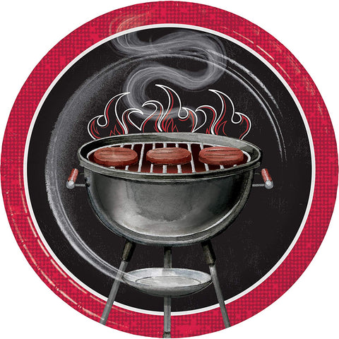 Backyard BBQ Dessert Plates 8ct