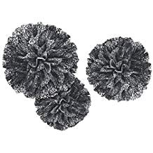 Fluffy Decor Black Scroll 3Ct