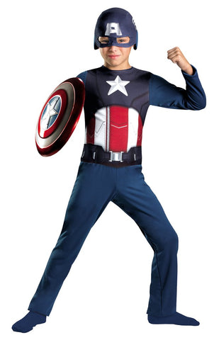 CAPTAIN AMERICA AVENGERS BOYS COSTUME-Medium (7-8)