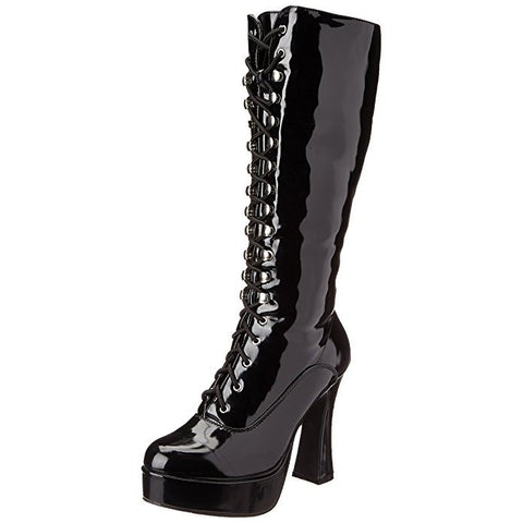 "Women's Black 5"" Knee High Boots with Zipper"