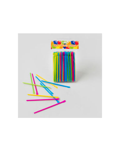 Assorted Color Straw Spoons (100 Ct.)