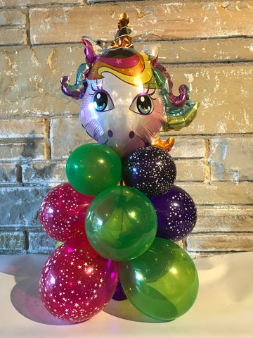 "Unicorn Air Filled Centerpiece 22"" High"