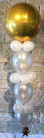 Floor-Length Balloon Tower Bouquet