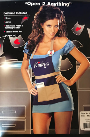 "'Open to Anything"" Sexy Kinko's or Waitress Costume"