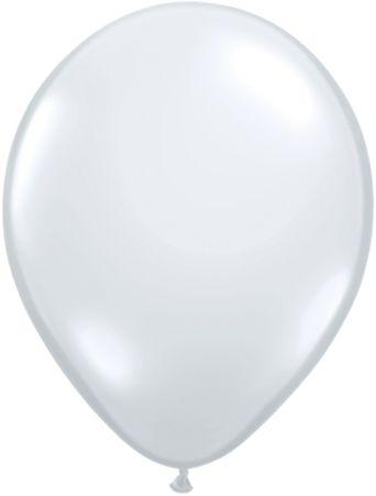 "Jeweltone Latex 11"" Diamond Clear Balloons"