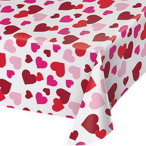Pink and Red Hearts Allover Love Valentine's Day Tablecover 54x102