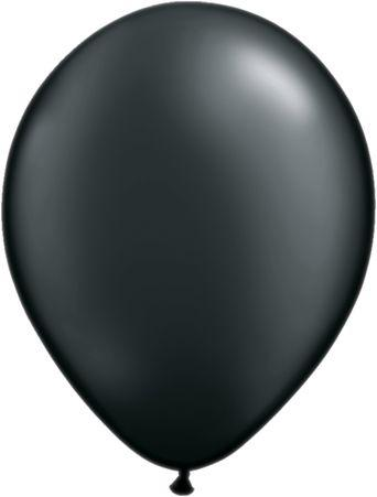 "Pearlized Latex 11"" Onyx Black Balloons"