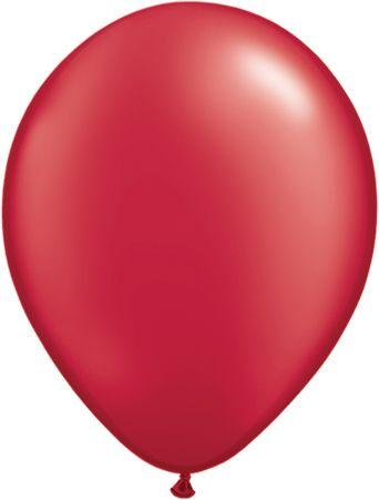 "Pearlized Latex 11"" Ruby Red Balloons"