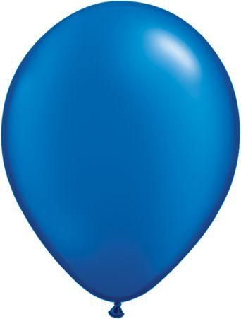 "Pearlized Latex 11"" Sapphire Blue Balloons"