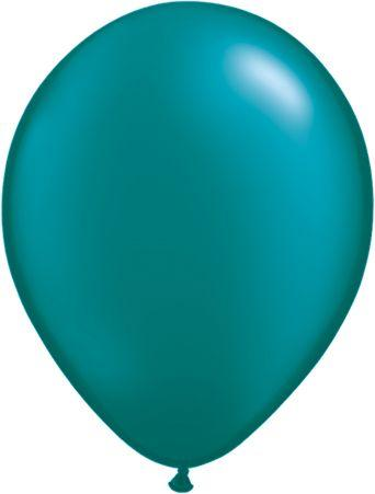 "Pearlized Latex 11"" Teal Balloons"