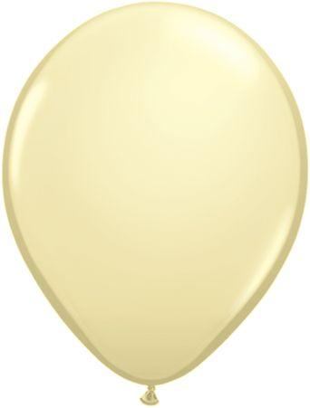 "Latex 11"" Ivory Balloons"