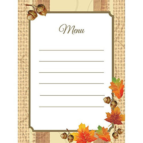 Autumn Leaves Menu Cards