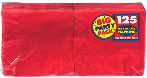 Red Beverage Napkin 125ct