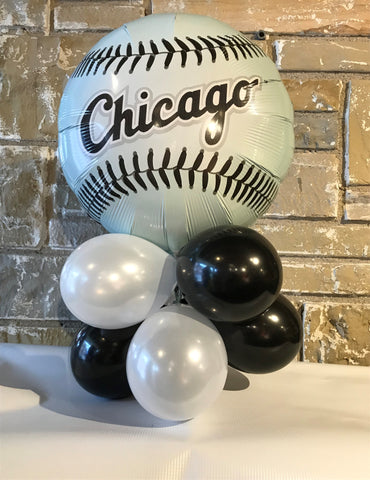 Tabletop  Air-Filled Foil Balloon Centerpiece Chicago White Sox Team
