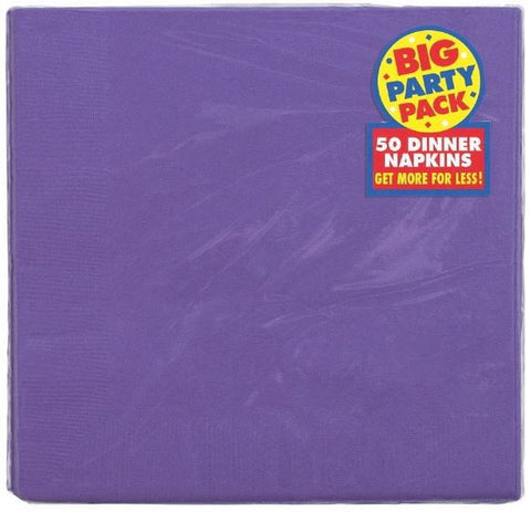 Purple Dinner Napkin 50ct