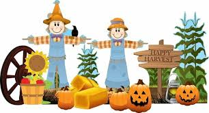 Fall Harvest Outdoor Lawn Decorations Set 3Ft. High with Metal Stakes Included