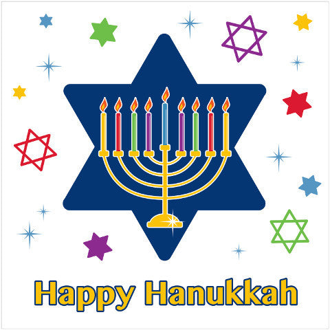 Hanukkah Festivities Beverage napkins (Pack of 18)
