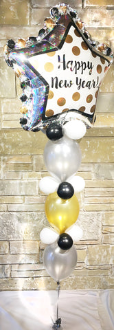 Jumbo Happy New Year Balloon Centerpiece