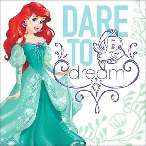 Ariel Dream Big Luncheon Napkins 16Ct