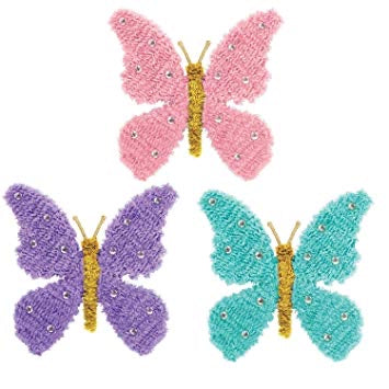Butterfly tinsel decoration