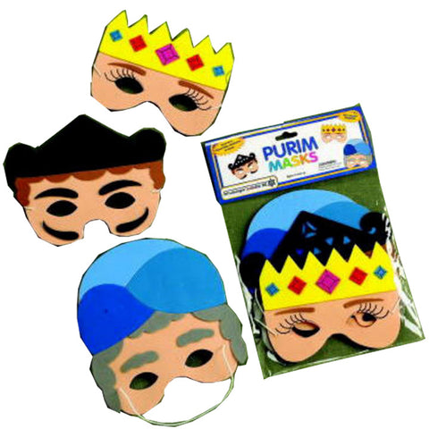 Purim Foam Masks 3pcs