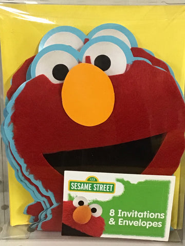 Sesame Street Novelty Invitations 8ct