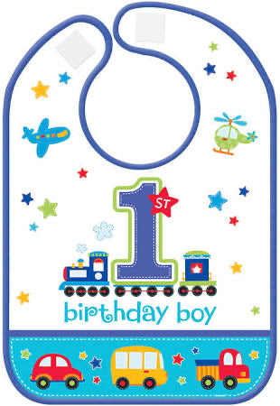 All aboard 1st bday bib