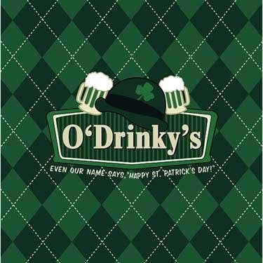 Irish Pub Signs Luncheon Napkin