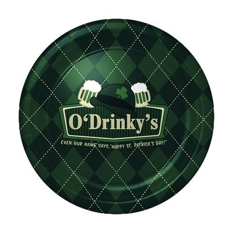 Irish Pub Signs Snack Plates 8ct