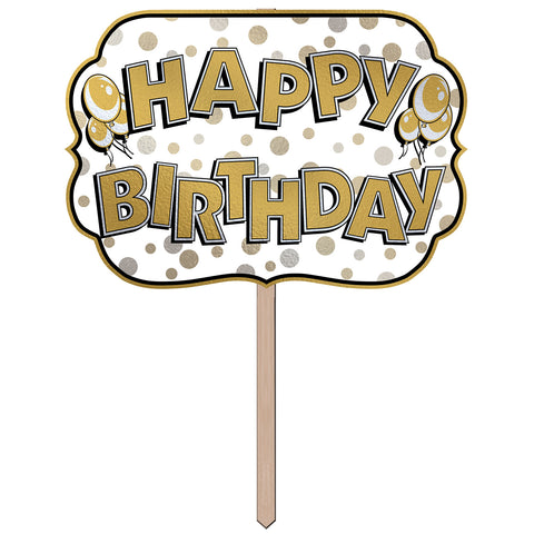 "Happy Birthday Foil Yard Sign 10"" x 14½"""