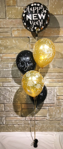 Happy New Years Balloon Centerpiece