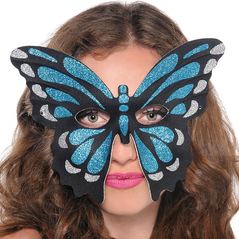 Butterfly Morpho Blue and Aqua Mask