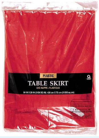 Red Table Skirt 29inch x 168 inch